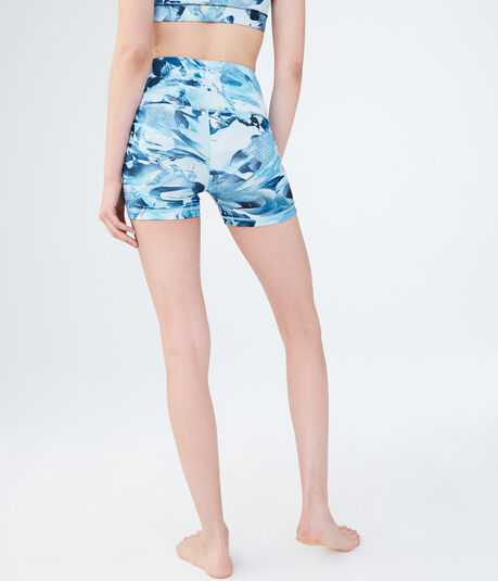 LLD High-Waisted Floral Volleyball Shorts