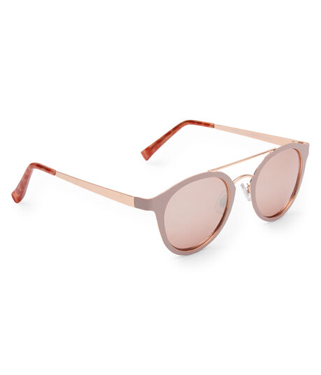 Flat Metal Top-Bar Sunglasses