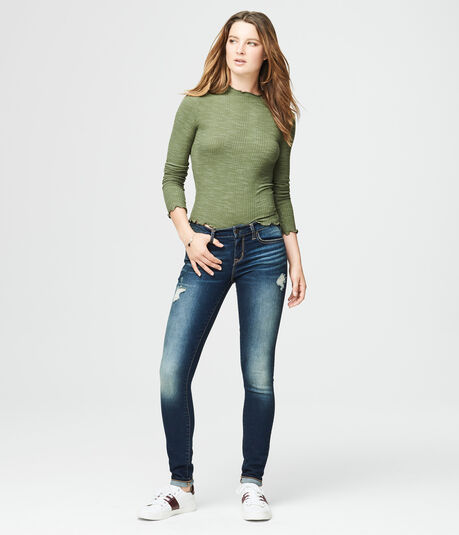 Long Sleeve Lettuce-Edge Layering Tee