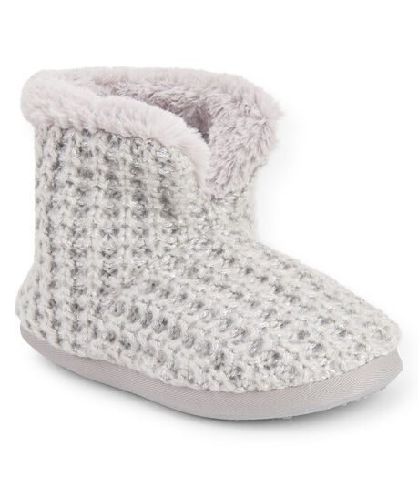 Metallic Knit Bootie