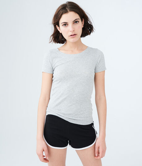 LLD Solid Ribbed Sleep Tee