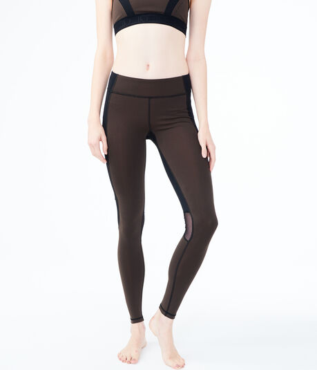 LLD Best Booty Ever Colorblock Mesh Inset Leggings
