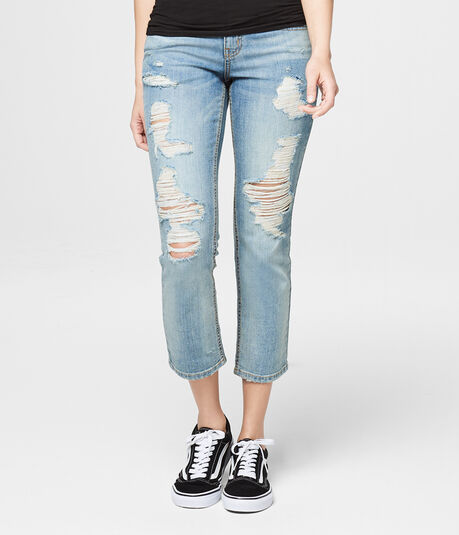 Final Sale -Low-Rise Ankle Straight Jean