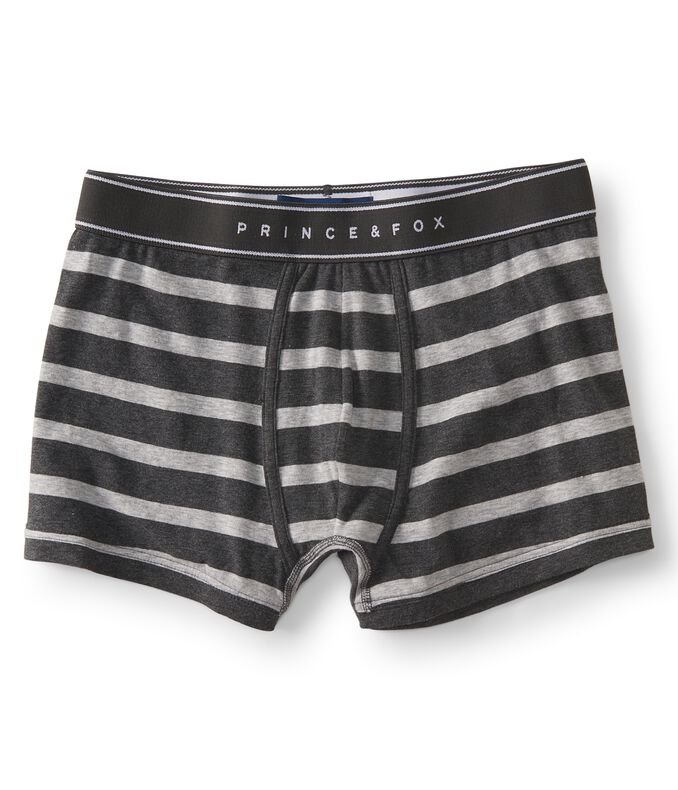 Prince & Fox Striped Knit Trunks