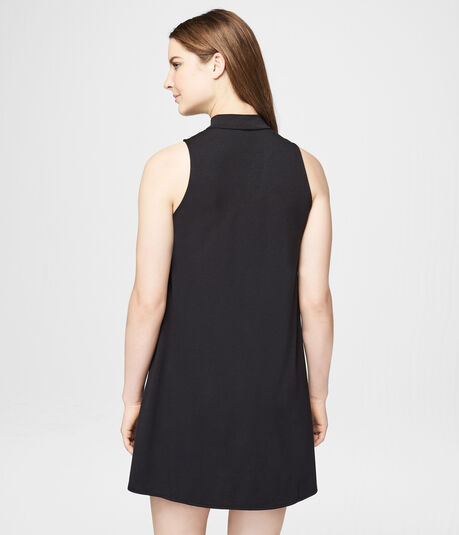 Solid Choker Shift Dress