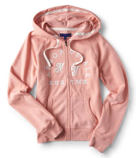 Final Sale -Aeropostale NY Full-Zip Hoodie