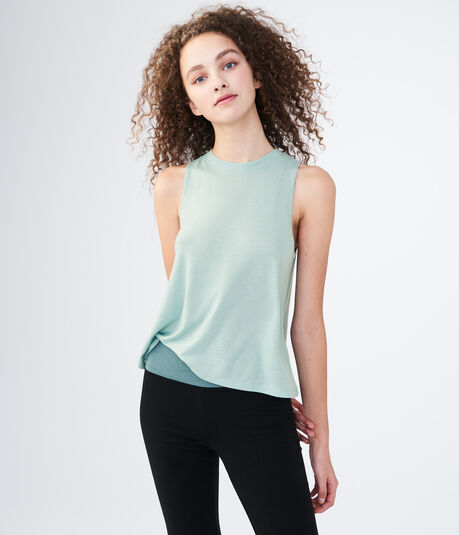 LLD Solid Tulip-Back Sleep Tank