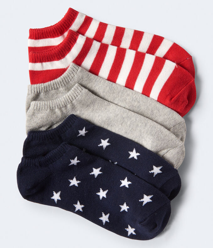 3-Pack Americana Ankle Socks