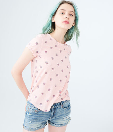 Seriously Soft Floral Graphic Crew Tee