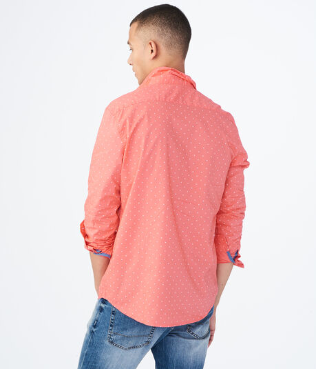 Long Sleeve Triangle Woven Shirt