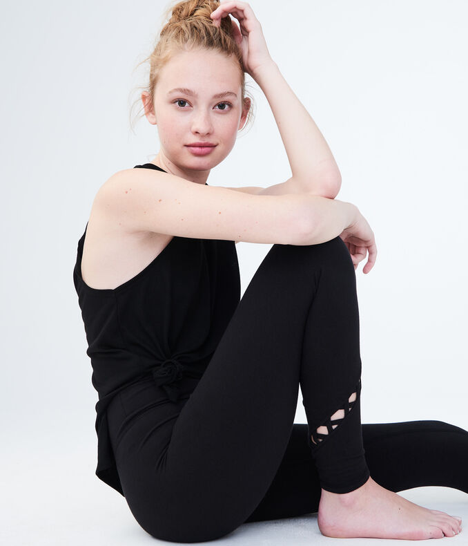 LLD High-Waisted Seriously Slimming Lattice Ankle Legging