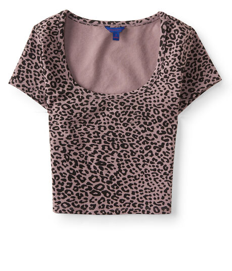 Leopard Bodycon Crop Tee