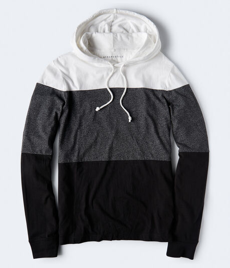 Long Sleeve Colorblock Hooded Tee