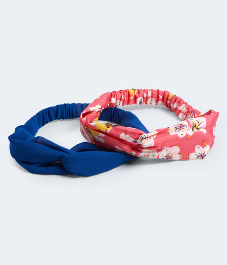 Solid & Floral Twist Headband 2-Pack