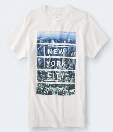 New York City Linear Photo Graphic Tee