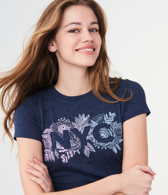 NYC Floral Jungle Graphic Tee