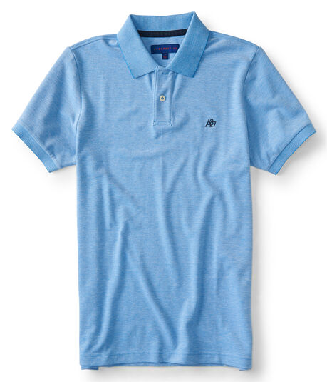 A87 Solid Oxford Pique Polo