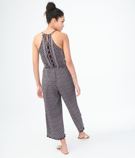 Printed Crop Jumpsuit