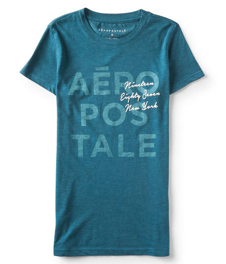 Final Sale -Stacked Aéropostale Graphic Tee***