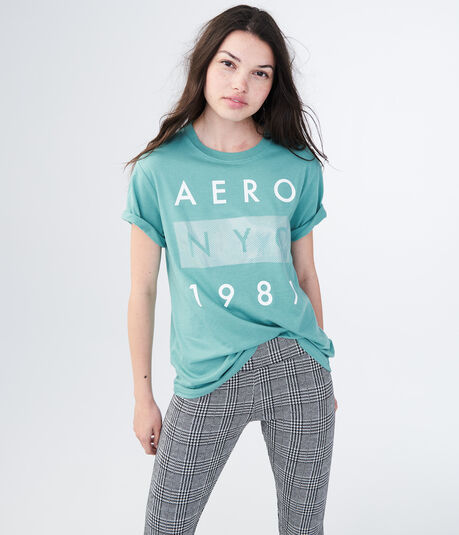 Aero NYC 1987 Foil Graphic Boy Tee