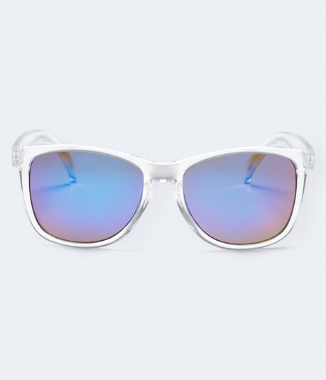 Clear Mirrored Lens Sunglasses