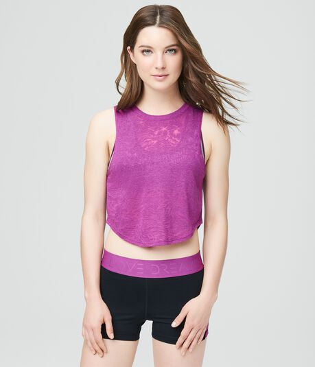 LLD Tropical Burnout Crop Tank