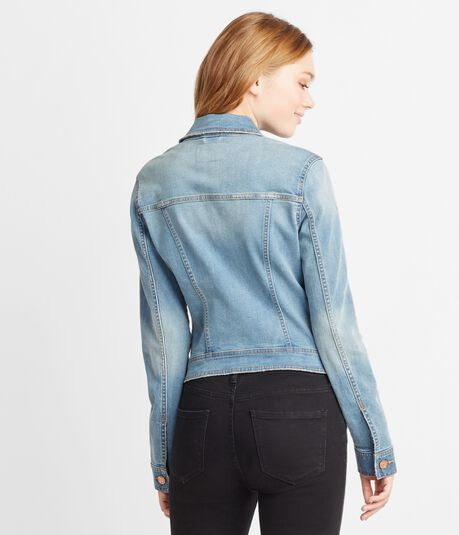 Seriously Stretchy Light Wash Denim Jacket