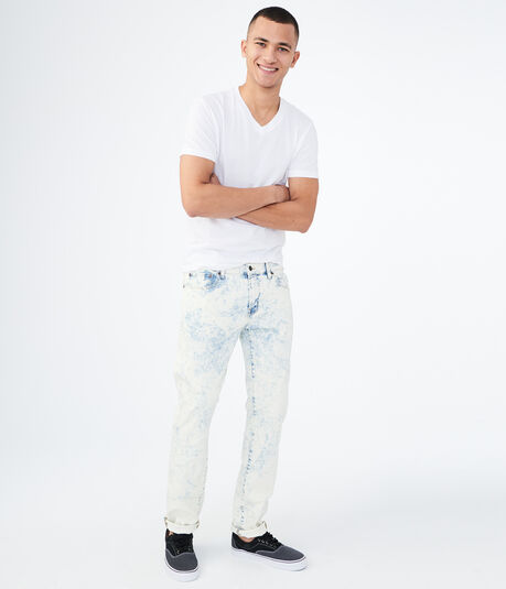 Skinny Bleach Wash Reflex Jean
