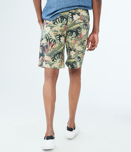 Floral Stretch Pull-On Shorts