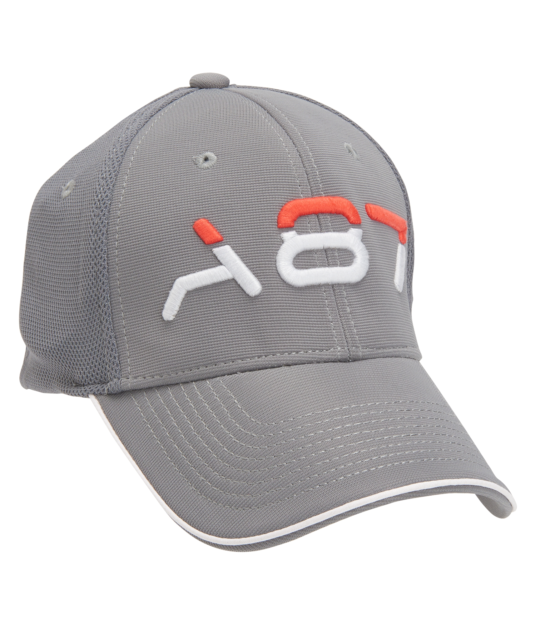 Aeropostale A87 Performance Fitted Hat - Dark Grey, S/M