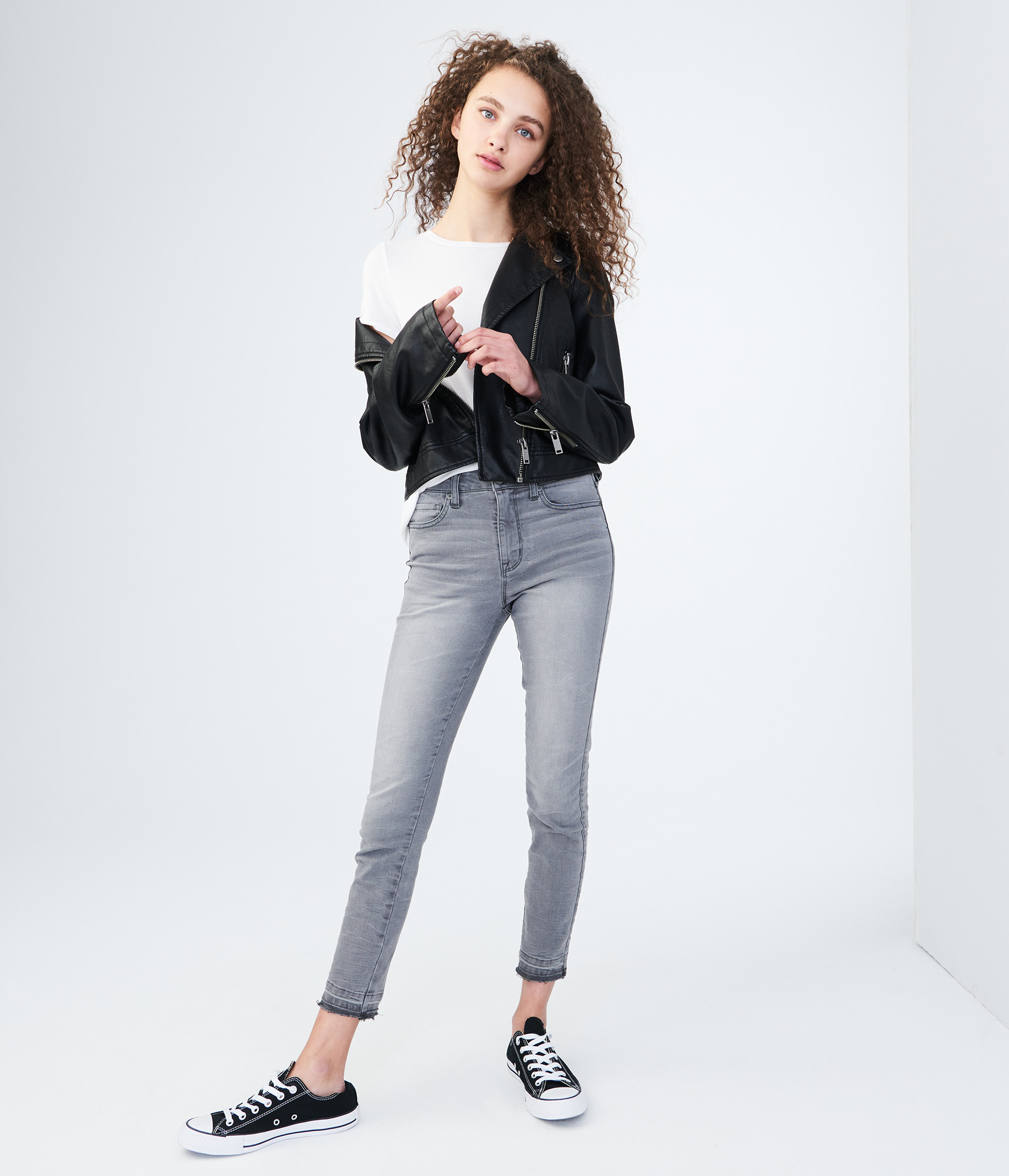 Aeropostale Seriously Stretchy High-Waisted Ankle Jegging - Grey, 6 R
