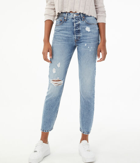 Real Denim Super High-Rise Ankle Skinny Jean***