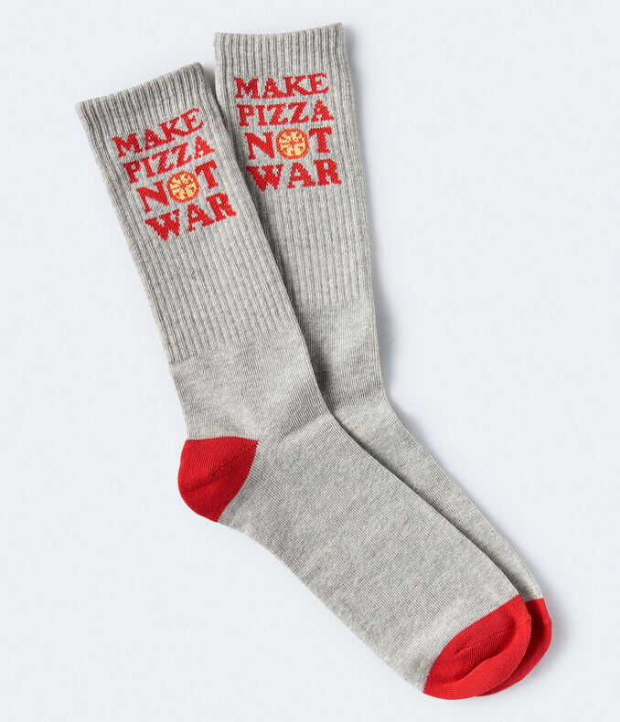 Make Pizza Not War Crew Socks
