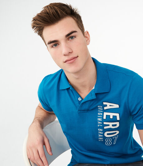 Aero 87 Logo Graphic Jersey Polo