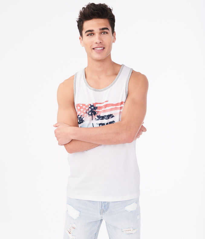 Palm Tree Flag Tank