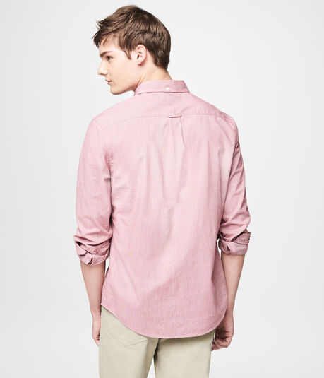 Long Sleeve Yarn-Dyed Stretch Woven Shirt