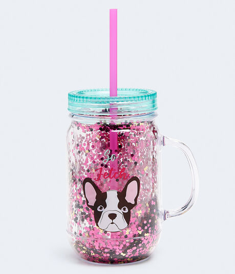 Frenchie So Fetch Mason Jar