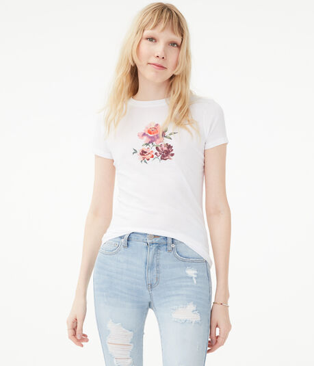 Watercolor Flowers Graphic Tee