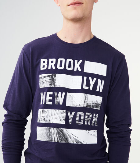 Long Sleeve Brooklyn New York Graphic Tee