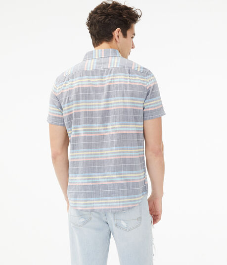 Faded Multi-Stripe Button-Down Shirt