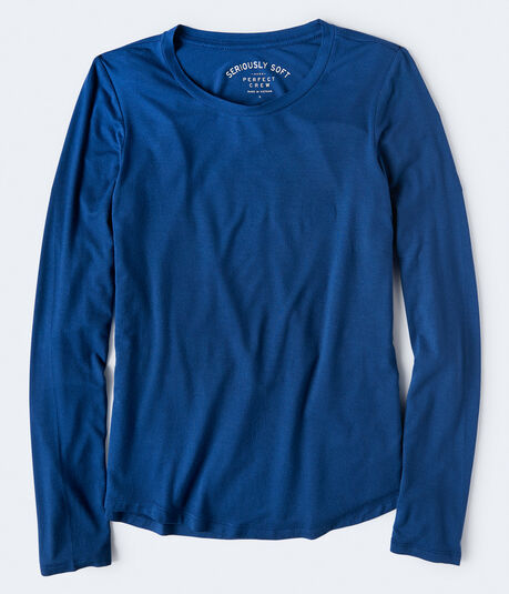 Long Sleeve Seriously Soft Solid Crew Tee