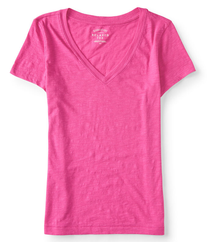 Seriously Soft Solid V-Neck Tee