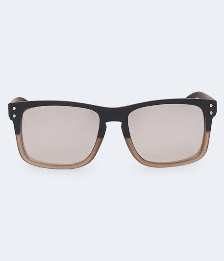 Two-Tone D-Frame Sunglasses