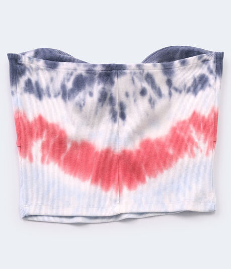 Americana Tie-Dye Cropped Tube Top