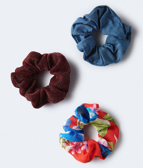 Metallic Scrunchie 3-Pack***