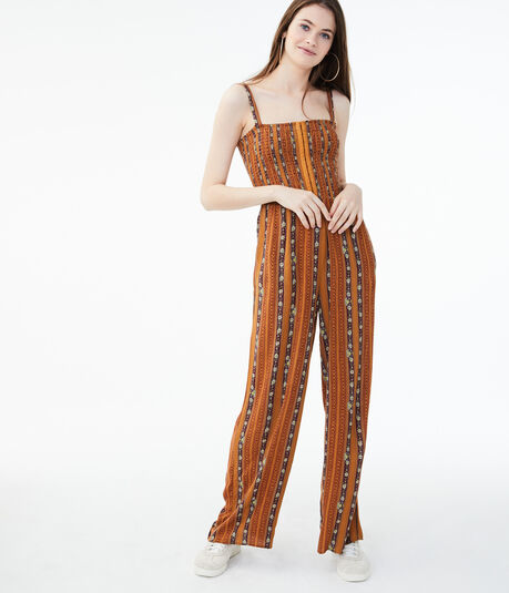 Patterned Stripe Jumpsuit