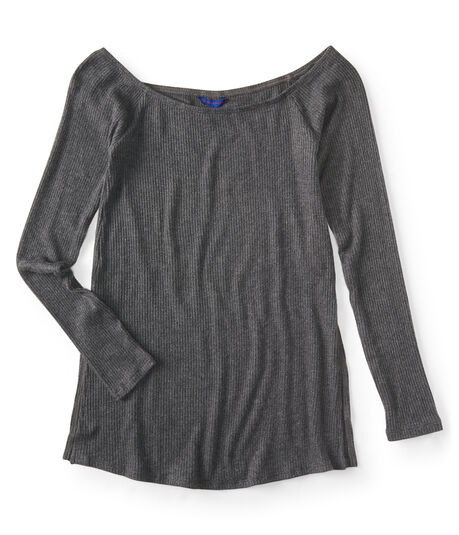 Long Sleeve Seriously Soft Off-The-Shoulder Top