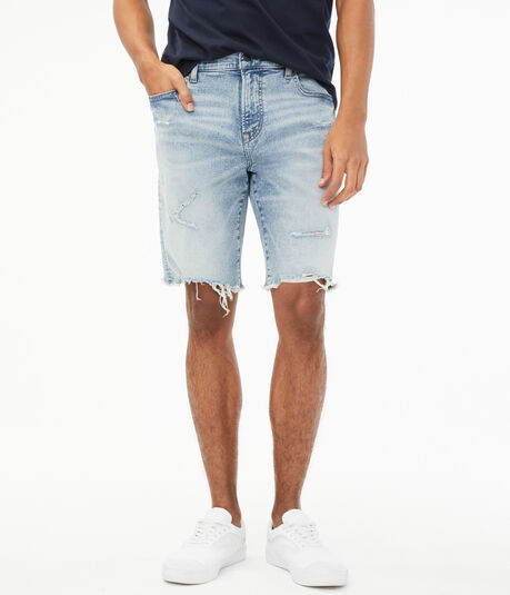 "Real Denim Slim 9.5"" Cutoff Shorts"