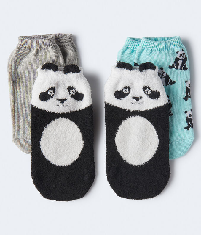 3-Pack Panda Ankle Socks