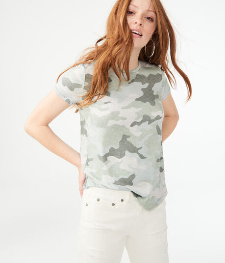 Seriously Soft Camo Crew Tee